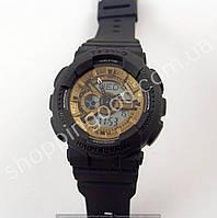 Детские часы Casio Baby G BA-111 5338 (013559) черные матовые с кофе водонепроницаемые
