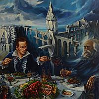 "Картина ""Завтрак возле руин крепости 4-х путей"""