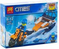 """Конструктор """"Cities: мотоцикл и сани"""", 60 дет 28029"""