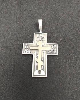 Серебряный крест БУ  925 пробы с золотой пластиной. Вес 4,47 г. Серебро б/у в Украине