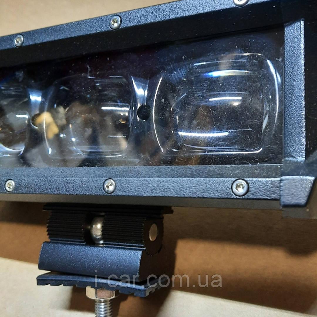 Светодиодная фара балка линзованная 30W с СТГ