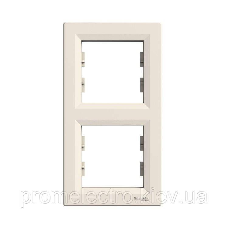 Рамка Schneider-Electric Asfora 2-постовая вертикальная кремовый (EPH5810223)