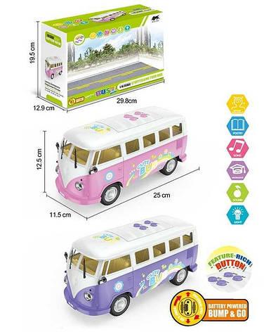 Автобус 1568 (24) 2 цвета, свет, звук, в коробке, фото 2