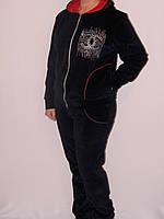 Спортивный женский костюм велюр Шанель
