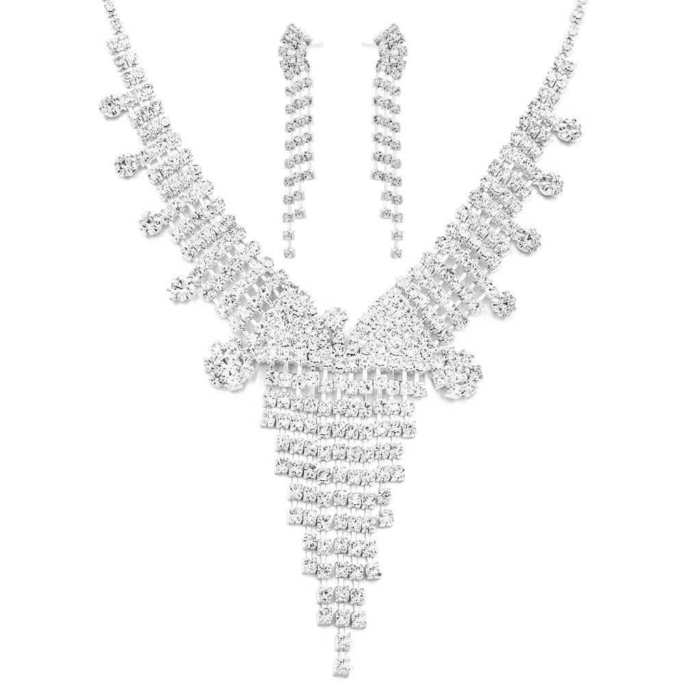 """Набор эксклюзивной бижутерии ожерелье+серьги """"Водопад"""""""