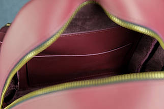 Женский кожаный рюкзак Лимбо, размер средний, кожа Grand, цвет бордо, фото 3