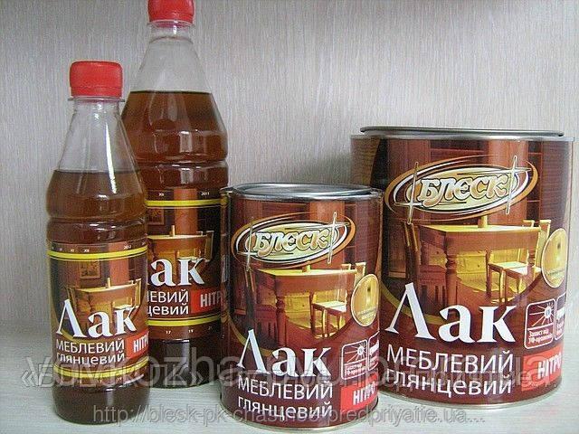 "Лак мебельный НЦ-218 глянцевый 0.37 кг ""Блеск"""