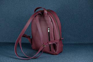 Женский кожаный рюкзак Лимбо, размер средний, кожа Grand, цвет бордо, фото 2