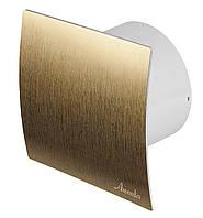Бытовой вентилятор Awenta серии SYSTEM+KWS-PEZ 100 - ЗОЛОТО вытяжной вентилятор для ванной комнаты или санузла