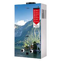 Газовая колонка Aquatronic дымоходная JSD20-AG208 10 л стекло (горы)