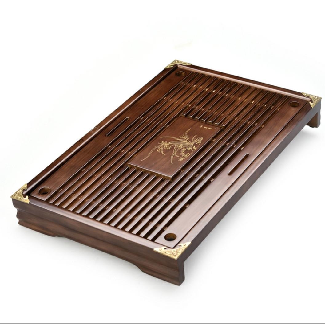 Китайський чайний столик Чабань дерев'яний коричневий 43*28 см