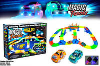 Детская гибкая светящаяся гоночная трасса конструктор Magic Tracks 360 деталей, фото 1