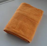 Махровое полотенце 70*140, 100% хлопок, 400 гр/м2, Туркменистан, мандарин