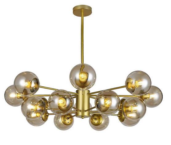 Люстра подвесная на 16 плафонов на золотистом основании в стиле loft  7526033-16 GD+CL, фото 2