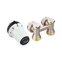 Комплект для подключения стальных радиаторов Danfoss RAS-CK+RLV-KS, заднее подключение (013G5276)
