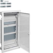 Hager Volta VU36NWB. Щит мультимедийный 3-х рядный внутренней установки с металлической дверью