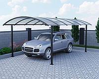 Навес для автомобиля из поликарбоната Oscar Regata Long 3830х6190х2757 мм сотовый поликарбонат Lexan 8 мм,