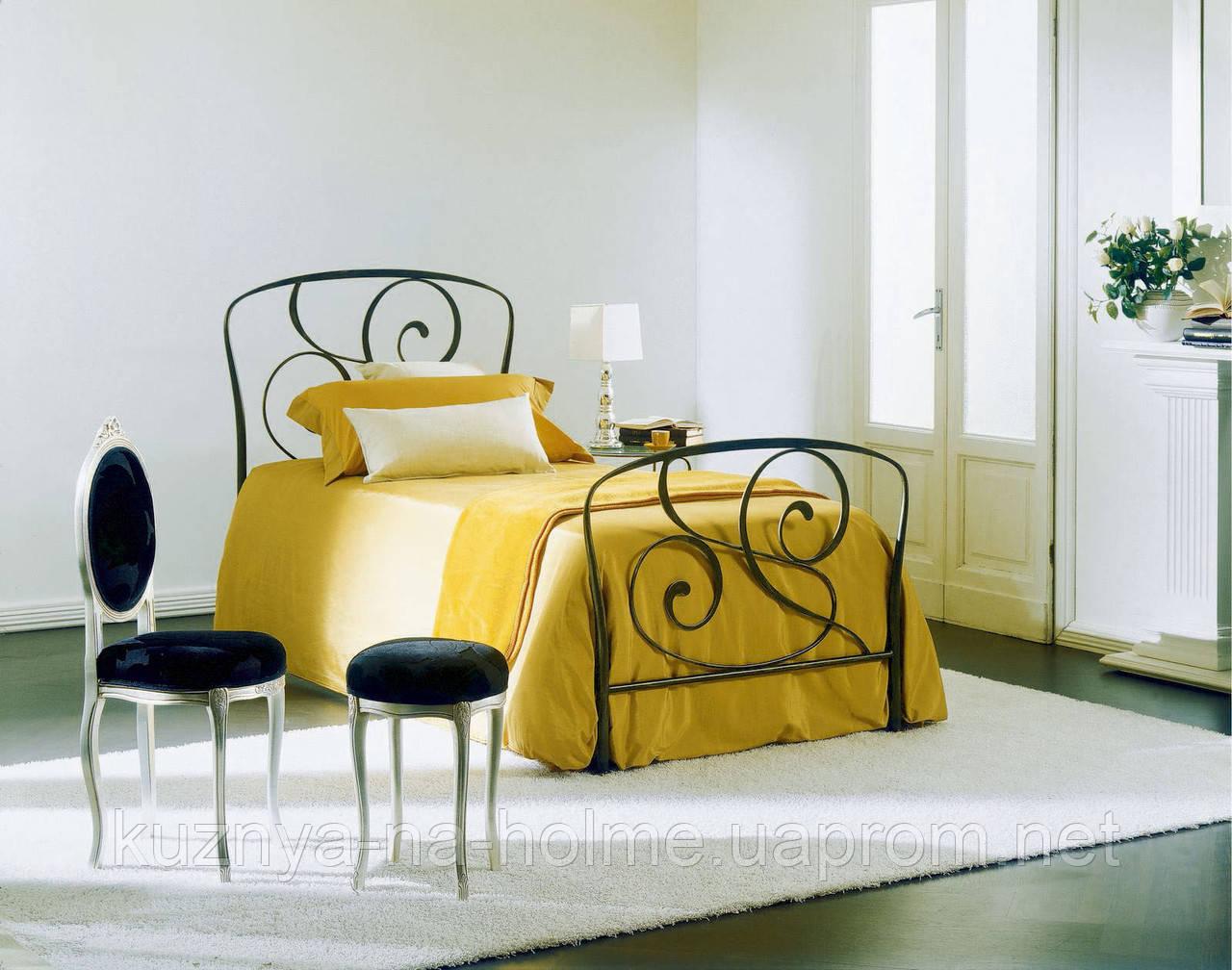 Кованая кровать односпальная. Ручная ковка