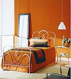 Кованая кровать односпальная. Ручная ковка, фото 6