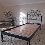 Кованая кровать односпальная. Ручная ковка, фото 8