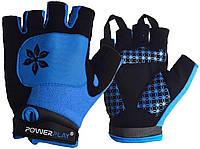 Велорукавички для катання на велосипеді 5284 D Блакитні M SKL24-144310