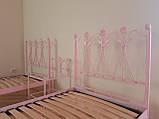 Кованая кровать односпальная. Ручная ковка, фото 9