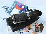 Брендовый кожаный ремень Tommy Hilfiger 21889 черный, фото 2
