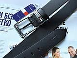 Брендовый кожаный ремень Tommy Hilfiger 21889 черный, фото 3