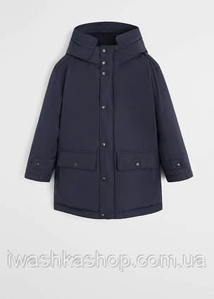 Водо и ветрозащитная синяя куртка еврозима на мальчика 7 лет, р. 122, Mango