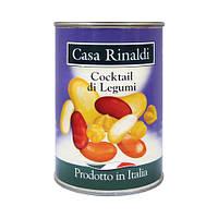 Смесь бобовых Casa Rinaldi (фасоль белая, фасоль красная, чечи, фасоль каннелини) 400г