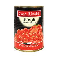 Кусочки очищенных помидор в собственном соку Casa Rinaldi 400г