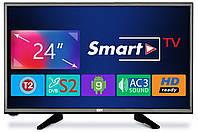 "Телевізор Dex LE2459SM (24"", 1366х768, USB, Smart TV, Wi-Fi, Android 9.0, DVB-T2/C/S2), фото 1"