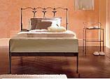 Кованая кровать односпальная. Ручная ковка, фото 10