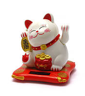 Кошка Манэки-нэко на солнечной батарее 7 см