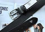 Мужской кожаный ремень Philipp Plein 21890 черный, фото 3