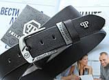 Мужской кожаный ремень Philipp Plein 21890 черный, фото 2