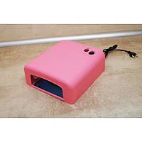 УФ лампа для наращивания ногтей на 36 Вт Розовая