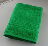 Махровое полотенце 70*140, 100% хлопок, 400 гр/м2, Туркменистан, зеленый (classik green)