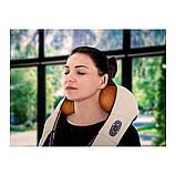 Шейный Массажер подушка для шеи с подогревом, лечение остеохондроза, шейного горбика, снятие боли в спине, фото 2