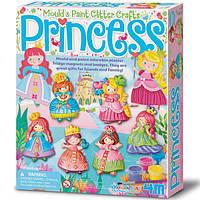 Игра Cделай сам для детей рукоделие хендмейд 4M Магниты из гипса Принцессы (00-03528)