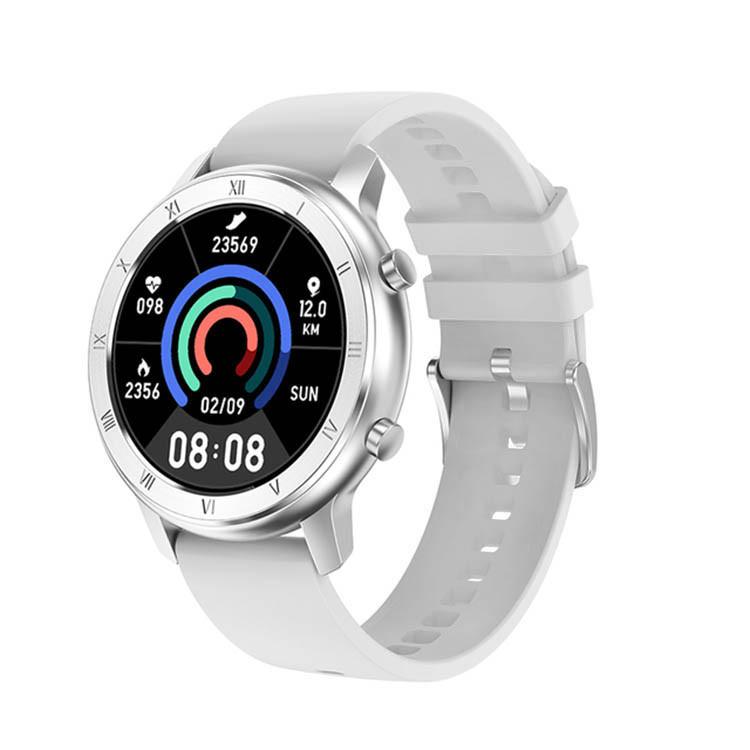 Умные часы NO.1 DT89 Silicon с тонометром и пульсоксиметром (Серебристый)