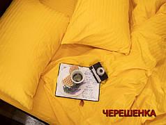 Полуторный набор постельного белья 150*220 из Страйп Сатина №50888 Черешенка™