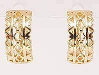 """Серьги M&L желтый оттенок колечки """"Декоративный орнамент"""", фото 1"""