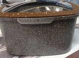 Набор кастрюль 22/26/30см LEXICAL антипригарное гранитное покрытие, 6 предметов, Choco, фото 8