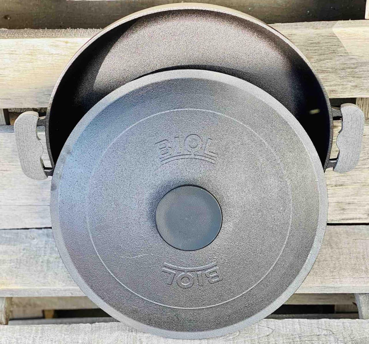 Сковорода -жаровня чугунная с крышкой 34 см Биол 1734К