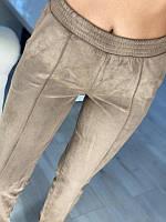 Женские замшевые штаны Бежевые, фото 1