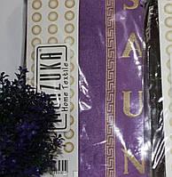 Женский махровый комплект для сауны фиолетовый, Турция