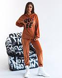 Костюм женский спортивный из теплого плюша осень-зима, разные цвета р.44-46,48-50,52-54 Код 1121В, фото 2