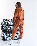 Костюм женский спортивный из теплого плюша осень-зима, разные цвета р.44-46,48-50,52-54 Код 1121В, фото 3