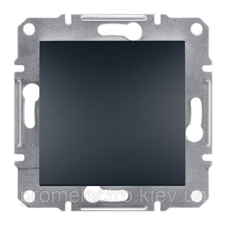 Переключатель Schneider-Electric Asfora Plus 1-клавишный перекрестный антрацит (EPH0500171)